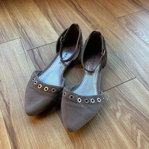Rampage | Dillon | Pointed Toe Flats | Gray | 8M